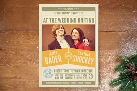 The Big Match Wedding Invitations