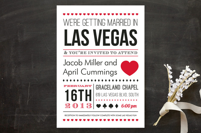 Las Vegas Wedding Invitation Wording: Wedding Invitation Wording That Won't Make You Barf