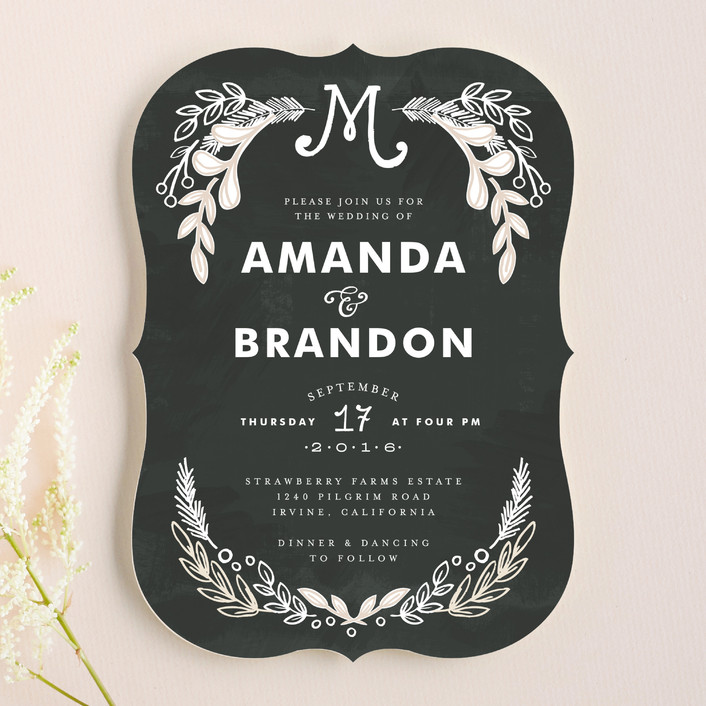 Chalkboard Wedding Invitations By Alethea And Ruth | Minted