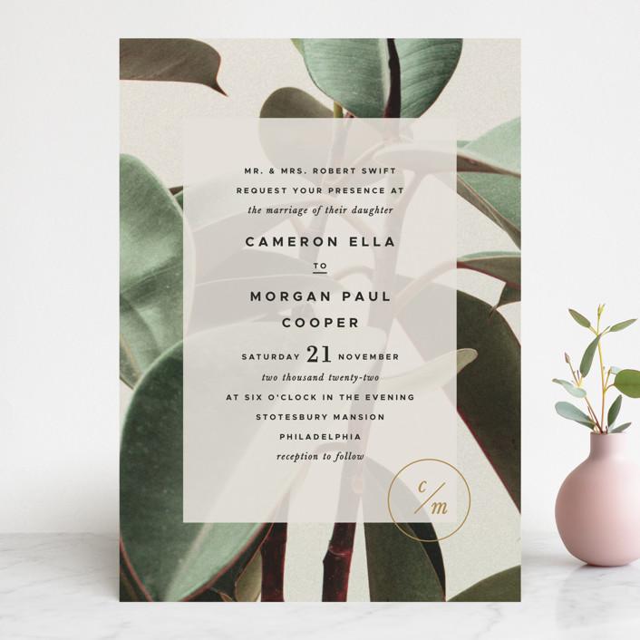 """Powder Room Florals"" - Wedding Invitations in Cream by Ariel Rutland."