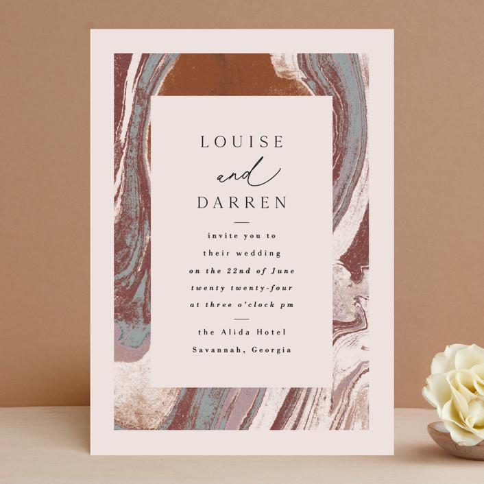 """Jasper"" - Wedding Invitations in Sandstone by Everett Paper Goods."