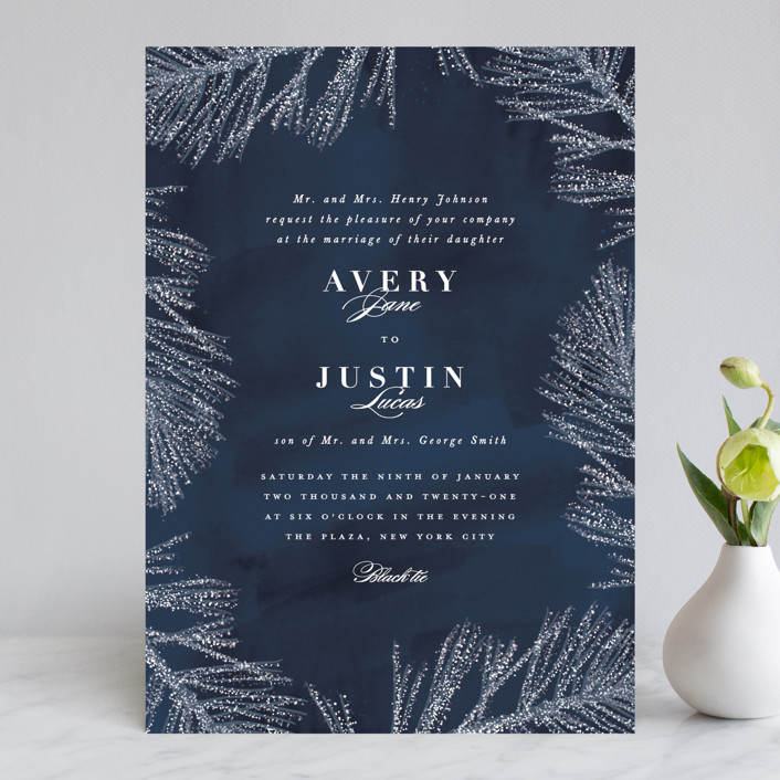 """Frosty chic"" - Wedding Invitations in Peacock by Creo Study."
