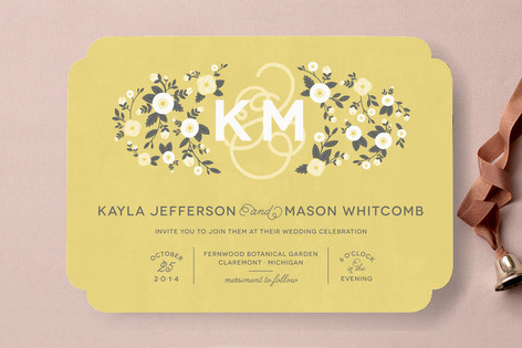 Cheerful Bloom Wedding Invitations