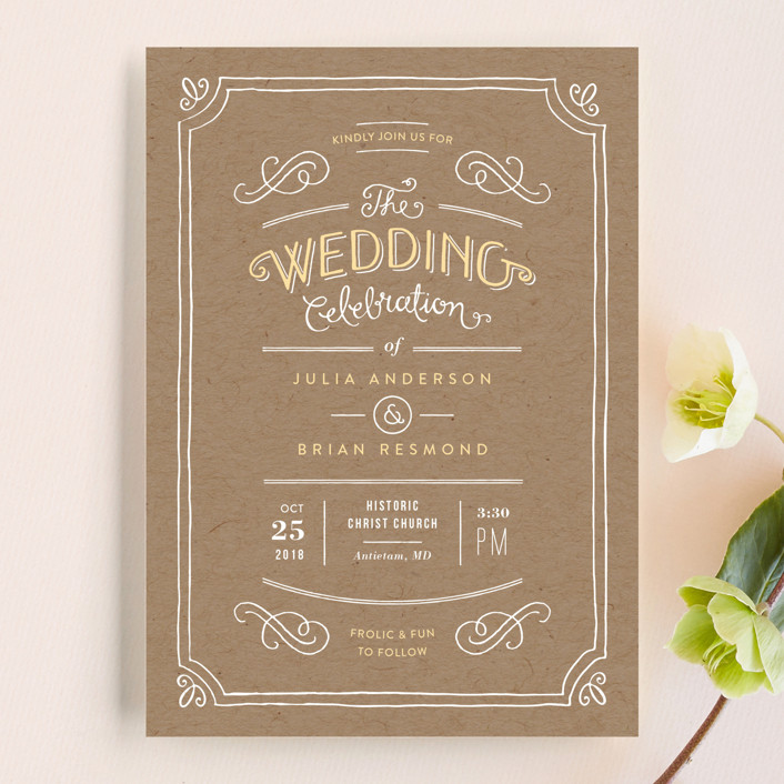Hand Delivered Wedding Invitations By Jennifer Wick Minted
