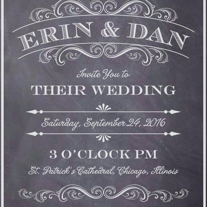 A Chalkboard Marriage Wedding Invitations by Erin Deegan Minted