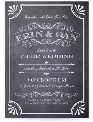 A Chalkboard Marriage Wedding Invitations