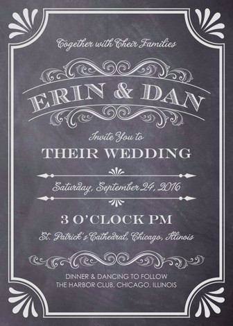 A Chalkboard Marriage Wedding Invitations By Erin Deegan  Minted
