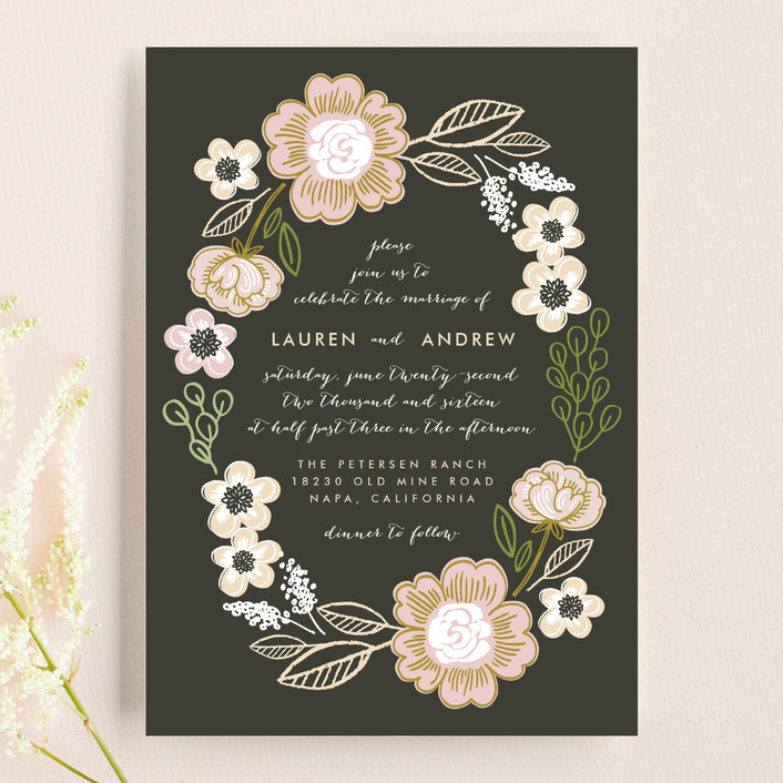 Botanical Wreath Wedding Invitations By Alethea And Ruth | Minted
