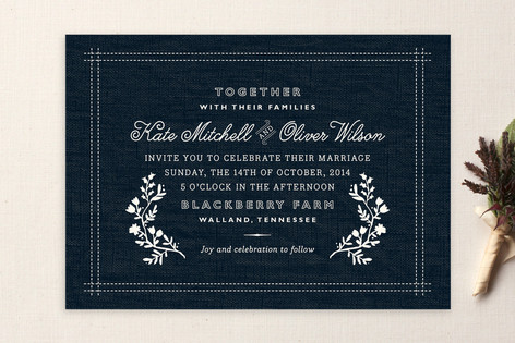 Vintage Stitch Wedding Invitations