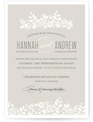 White Shadows Wedding Invitations