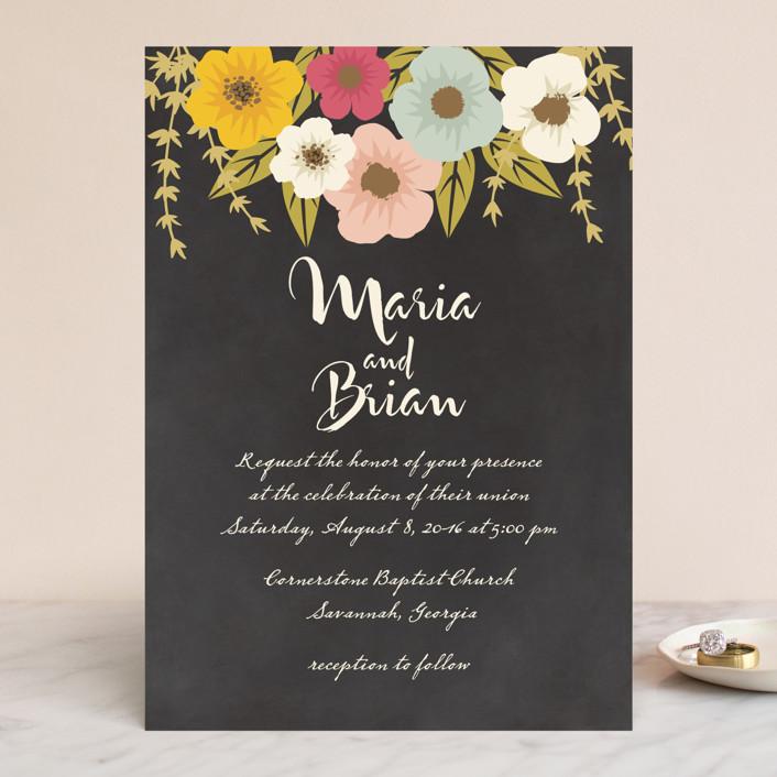 """Plentiful Blossoms"" - Floral & Botanical, Rustic Wedding Invitations in Soft Peach by Faiths Designs."