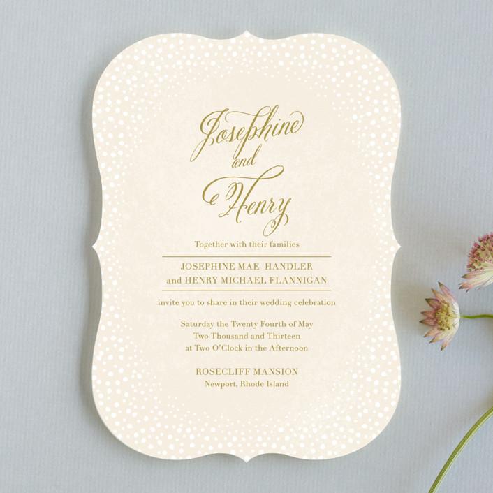 """Baby's Breath"" - Classical, Vintage Wedding Invitations in Petal by Laura Hankins."
