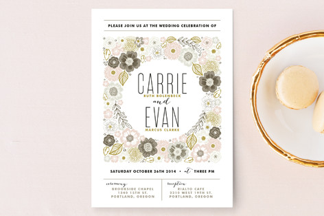 Flower Box Wedding Invitations