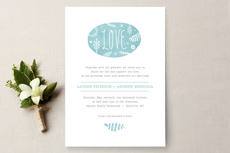 Sweet Love Wedding Invitations
