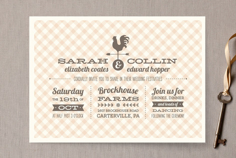 Country Classic Wedding Invitations