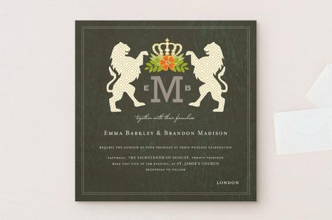 Royal Monogram Wedding Invitations