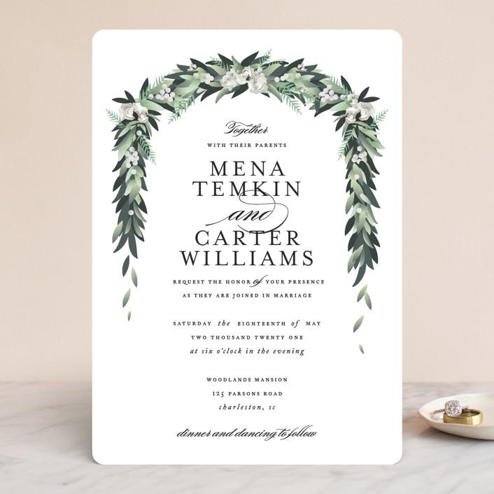 """Wall Flower"" - Wedding Invitations in Greenery by Jennifer Postorino."