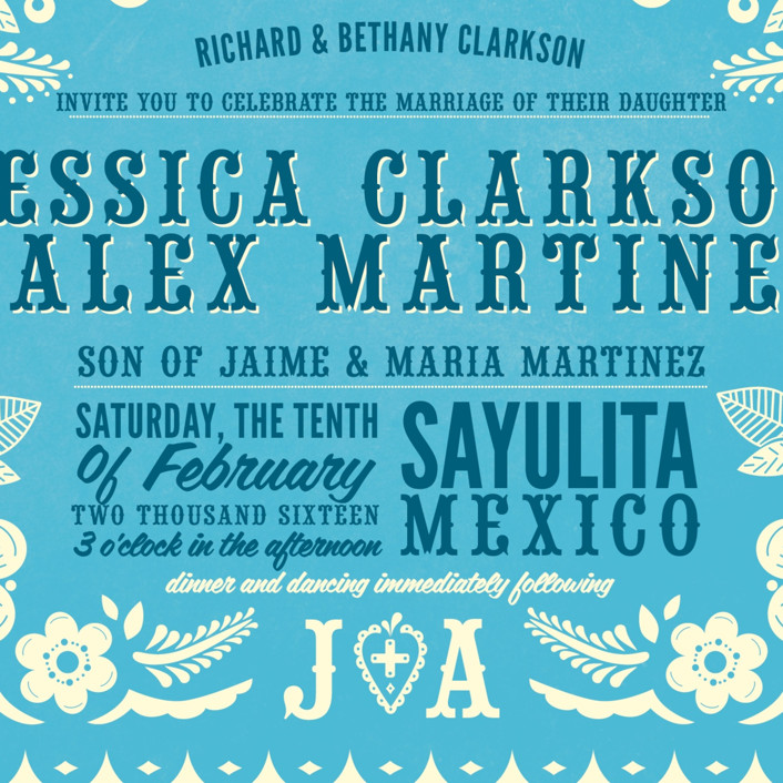 Papel Picado Wedding Invitations By Andres Montano Minted