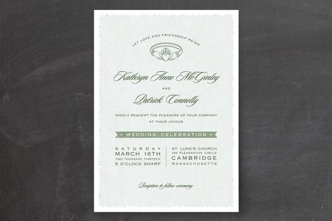 Classic Claddagh Wedding Invitations