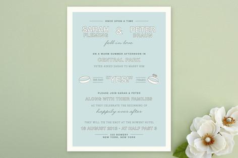 Fell in Love Wedding Invitations