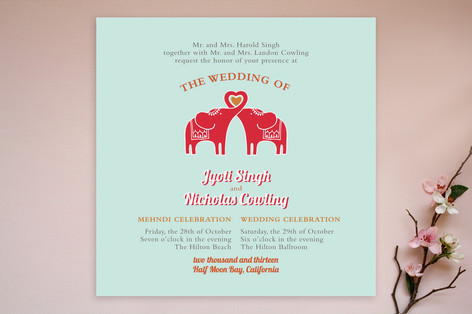 Elephant Heart Wedding Invitations