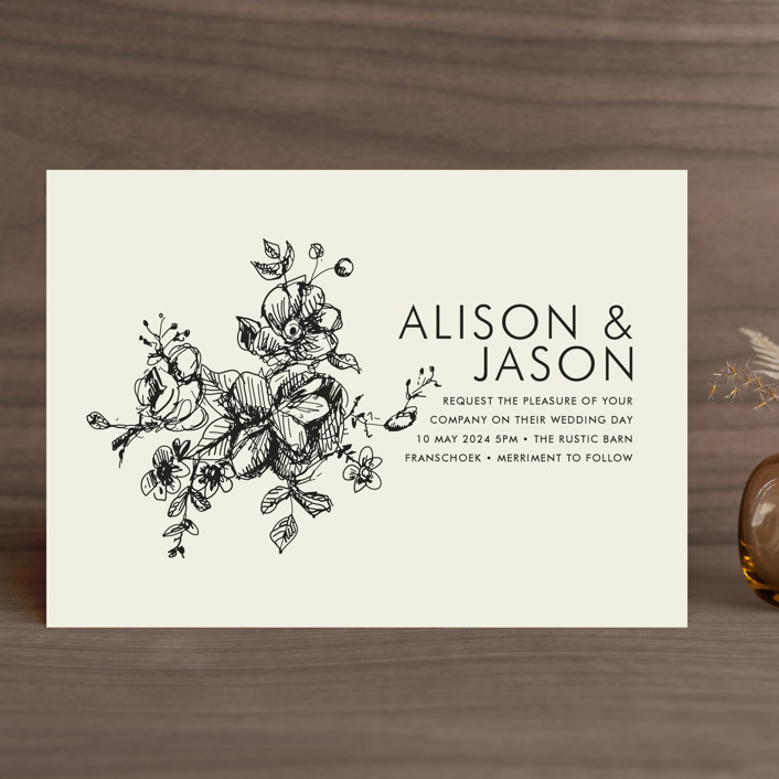 Elegance Ilrated Elegant Formal Wedding Invitations In Beige By Phrosne Invitation Wording Family