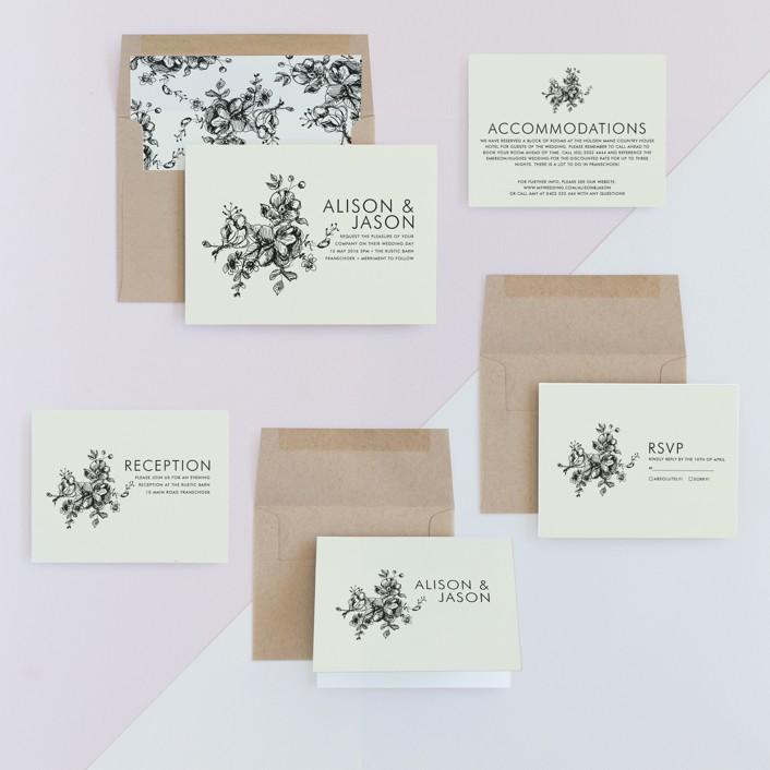 Elegance Illustrated Wedding Invitations by Phrosne Ras | Minted
