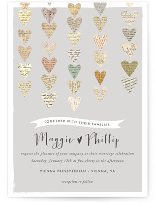 photo of Love Letters Wedding Invitations