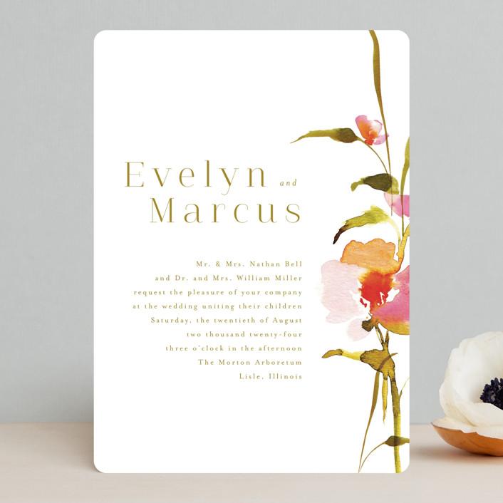 """colorwash floral"" - Wedding Invitations in Blossom by Angela Marzuki."