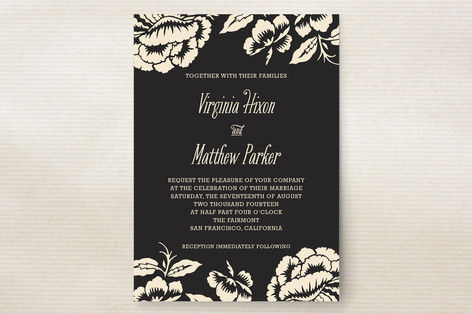 Floral Flirtation Wedding Invitations