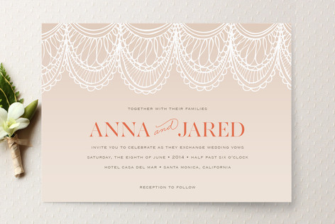 Mantilla Spanish Lace Wedding Invitations by Laura Minted