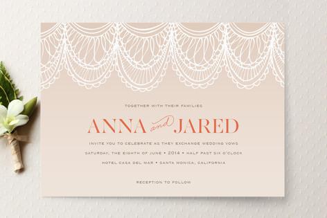 Superb Mantilla Spanish Lace Wedding Invitations