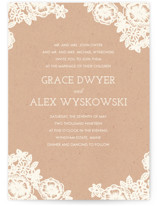 Lace and Kraft Wedding Invitations By Katharine Watson