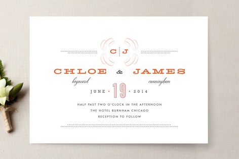 Fin de Siecle (Turn of the Century French) Wedding Invitations