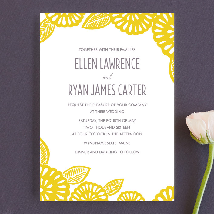 Bold Block Print Wedding Invitations by Katharine Watson | Minted