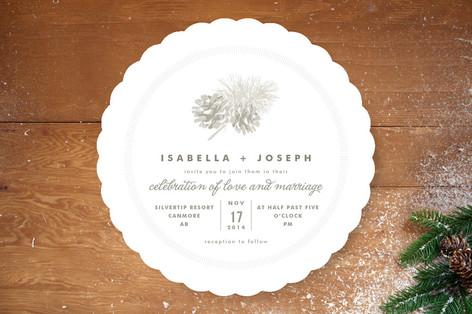 Pine Cones Wedding Invitations