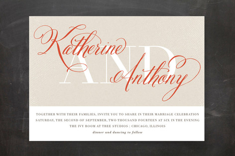 Scripted Wedding Invitations