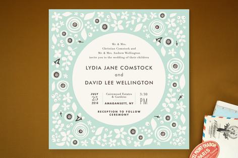 Grenadille Bleue Wedding Invitations