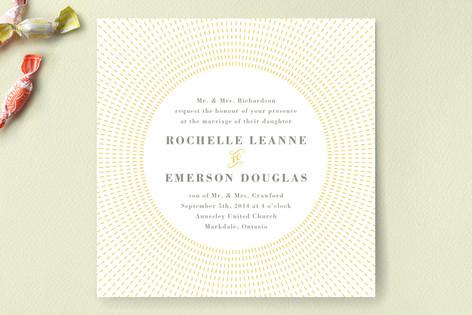Stitched Sunburst Wedding Invitations