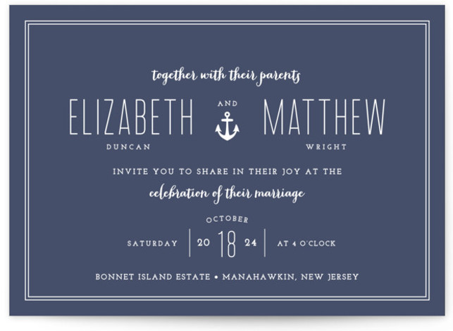 Down By The Sea Wedding Invitations