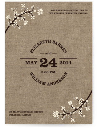 photo of Burlap Bliss Wedding Invitations