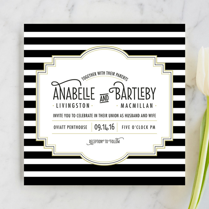Ascot Chic Wedding Invitations By Frooted Design