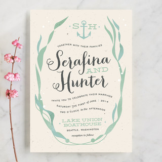 Whimsical Kelp Wedding Invitations by Trista Sydlo Minted