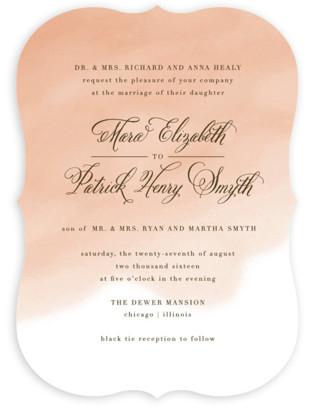 Watercolor Wedding Invitations Minted