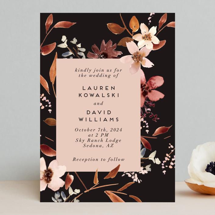 """Silky Way"" - Wedding Invitations in Midnight by Petra Kern."