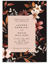 This is a black wedding invitation by Petra Kern called Silky Way with standard printing on signature in standard.