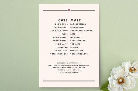 Opposites Attract Wedding Invitations