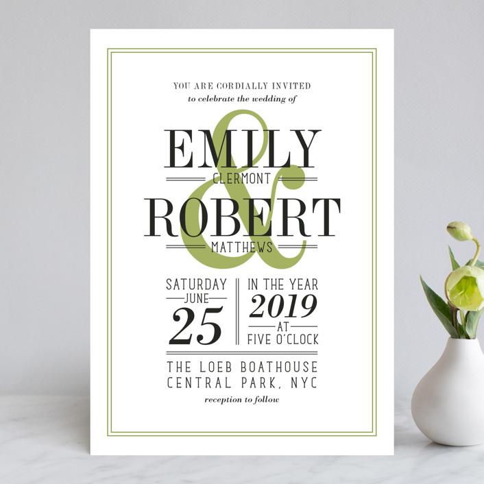 Wed in Type Wedding Invitations by Ariel Rutland | Minted