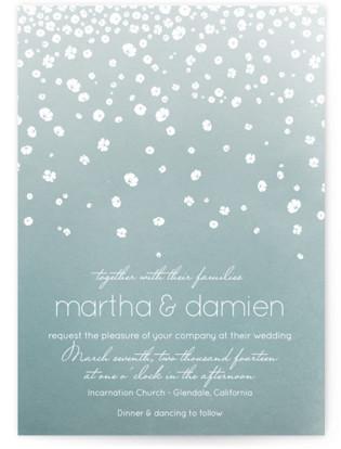 Floral Rain Wedding Invitations