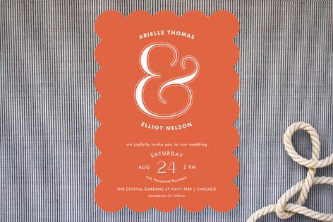 Curved Wedding Invitations